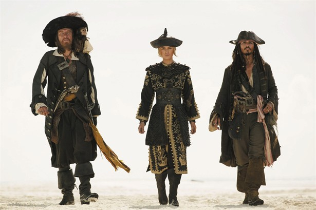 Geoffrey Rush,Johnny Depp,Keira Knightley