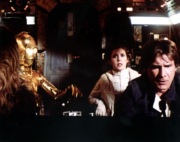 Anthony Daniels,Carrie Fisher,Harrison Ford,Peter Mayhew