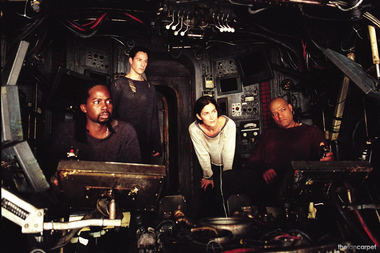 Carrie-Anne Moss,Harold Perrineau,Keanu Reeves,Laurence Fishburne