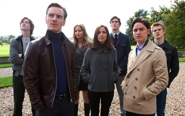 Caleb Landry Jones,James McAvoy,Jennifer Lawrence,Lucas Till,Michael Fassbender,Nicholas Hoult,Rose Byrne