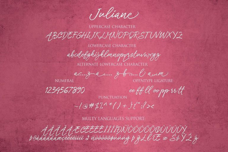 Best Selling Gorgeous Fonts Juliane9