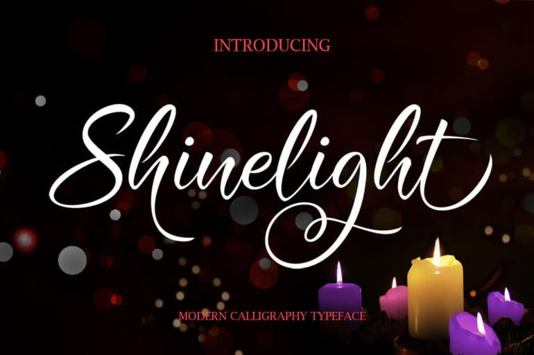 Best Selling Gorgeous Fonts Shinelight