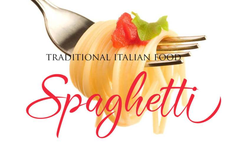 Best Selling Gorgeous Fonts Spaghetty
