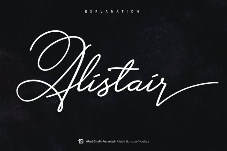 Best Selling Gorgeous Fonts alistair1