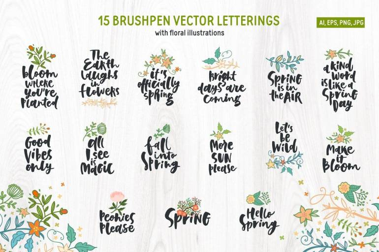 Best Selling Gorgeous Fonts spring_preview2-