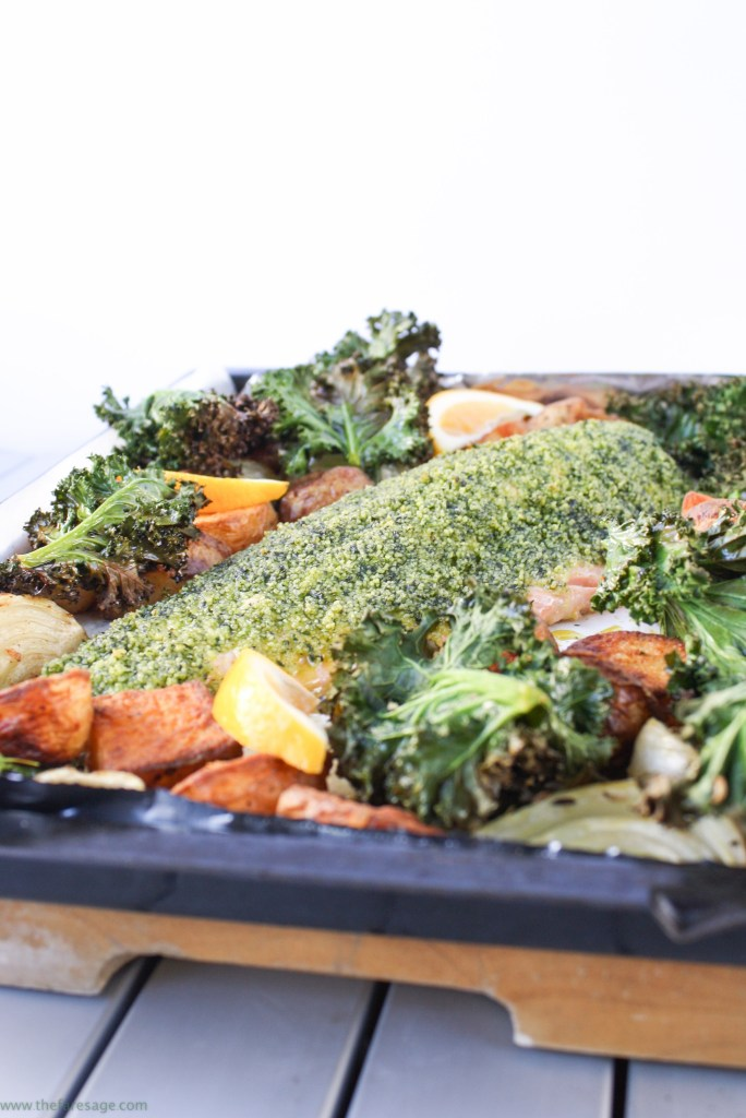 One-pan roasted salmon, fennel and potatoes
