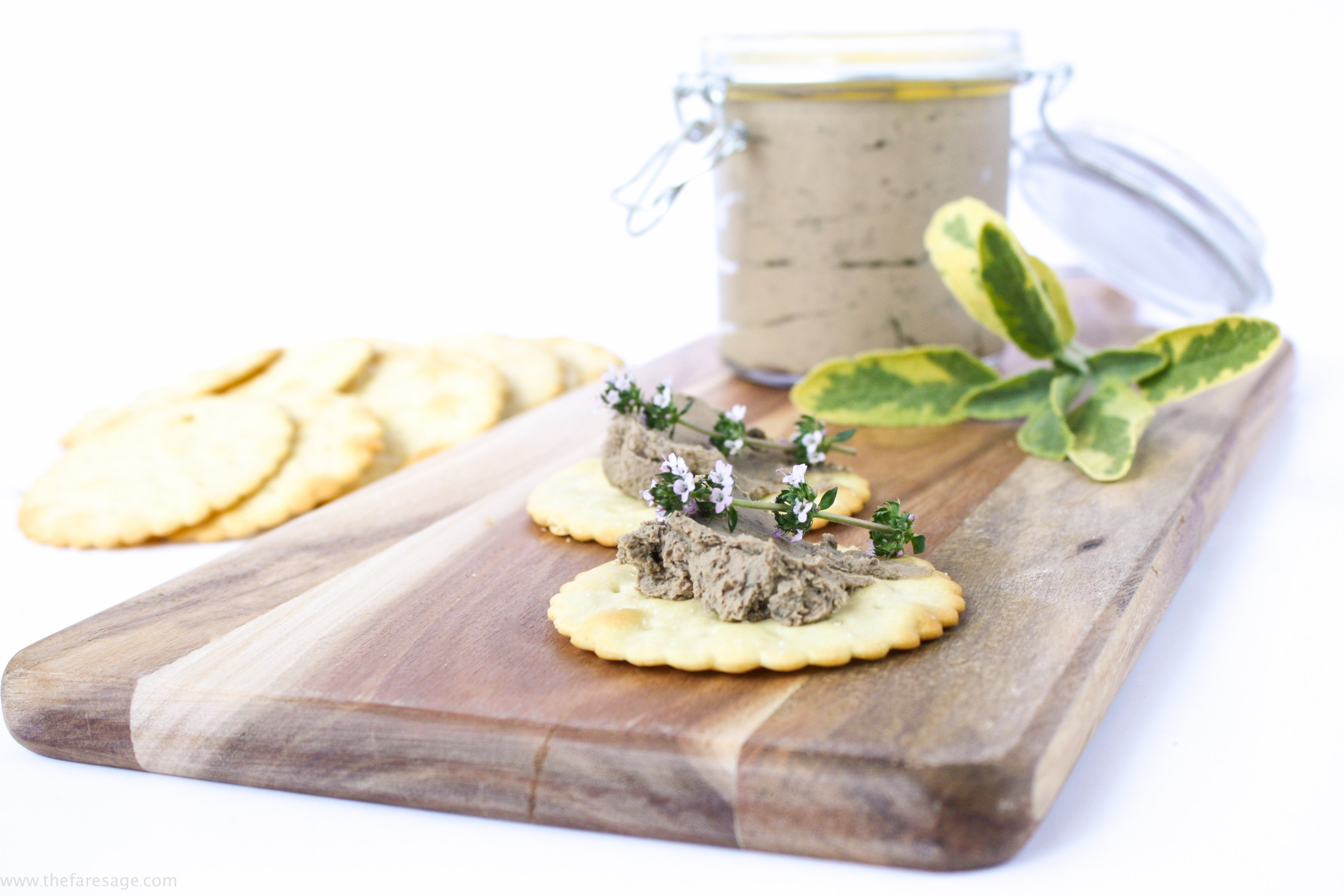 Chicken liver pate with brandy sage and thyme the fare sage chicken liver pate with brandy sage and thyme forumfinder Image collections