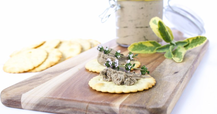 Chicken liver pate with brandy, sage and thyme