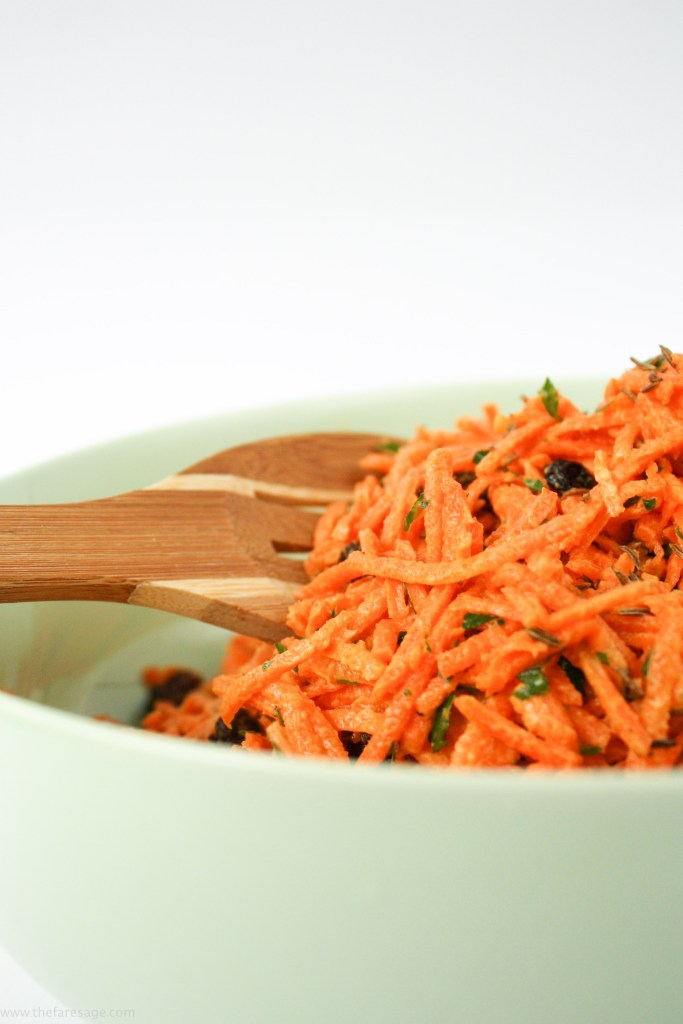 A crisp, fresh and delicious raw carrot salad from The Fare Sage