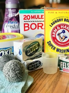 Ingredients for homemade laundry detergent powder