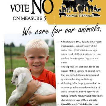 ND's Proposal 5 (Hint: HSUS Wrote It!)