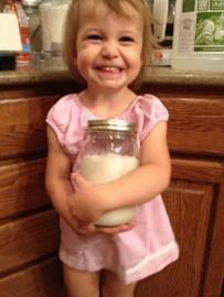 The Finished Jar of Homemade Horseradish