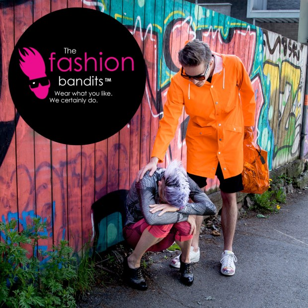 The Fashion Bandits. On the move - totally devastating.