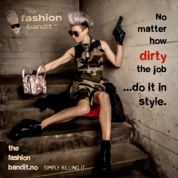 The Fashion Bandit Benedikte St.Pierre as the very stylish assassin