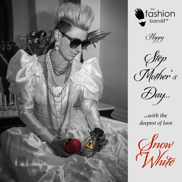 The Fashion Bandit Benedikte St.Pierre as Snow White is having a sweet revenge...