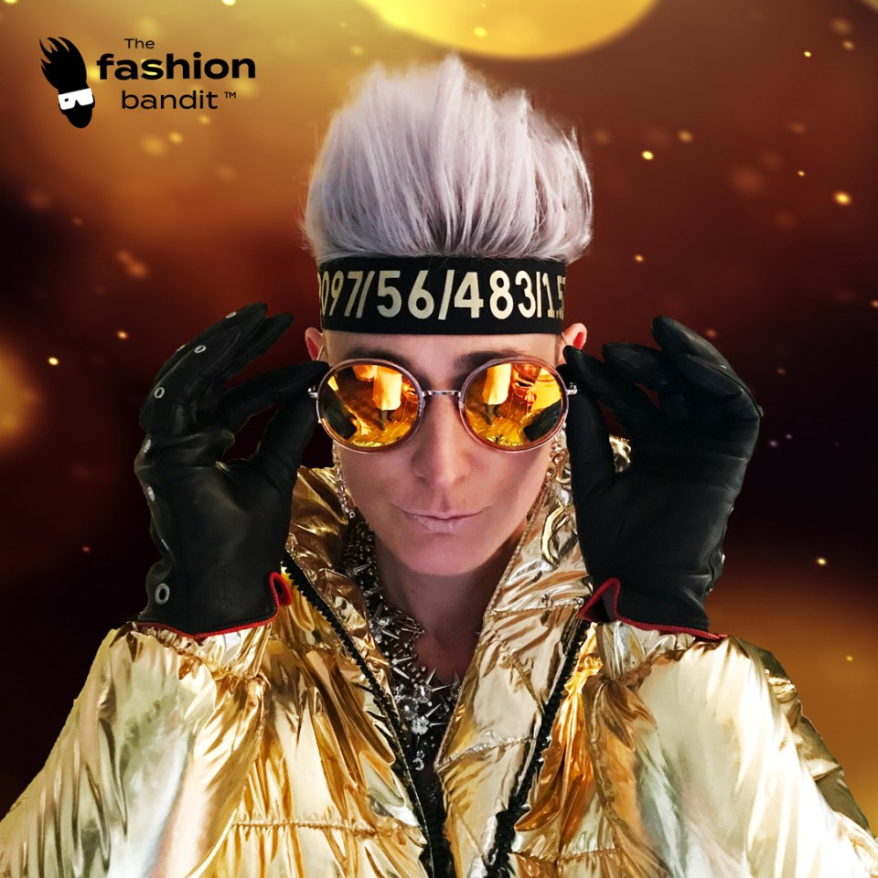 The Fashion Bandit Benedikte St.Pierre is greeting you from a golden space