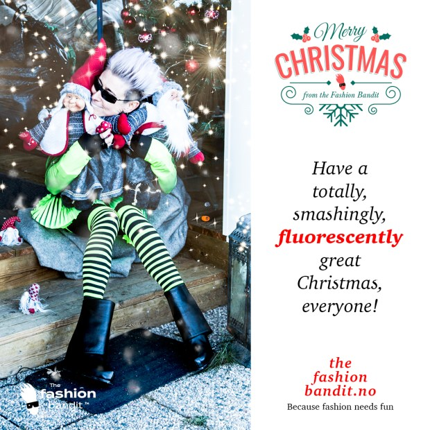 The Fashion Bandit Benedikte St.Pierre is wishing everyone a happy Christmas indeed