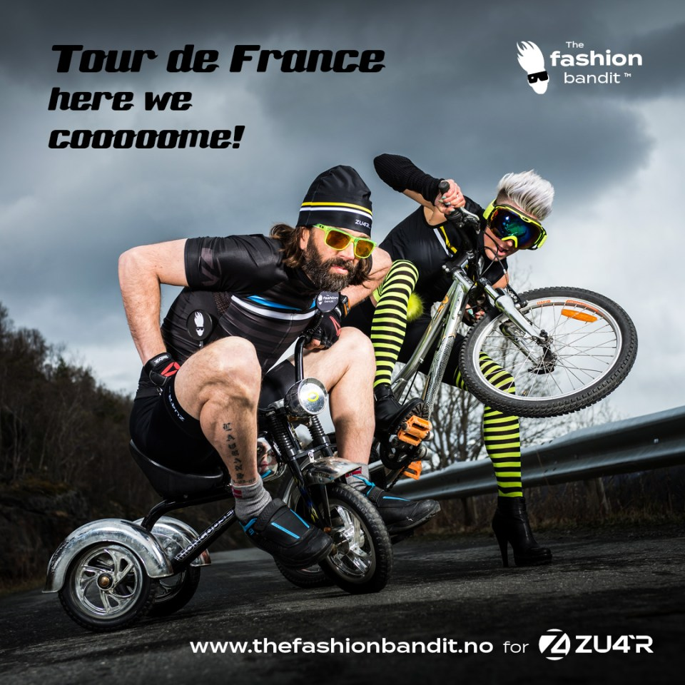 the Fashion Bandit Benedikte St.Pierre and Sindre Solvin are riding their bikes to Tour de France...