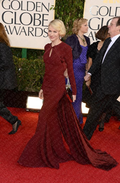 Fashion Blog | Naomi Watts Bedazzles In Zac Posen At The 2013 Golden Globes.