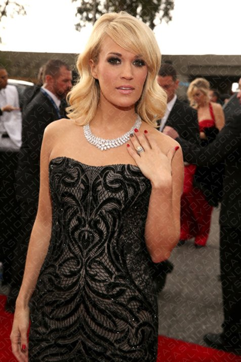 Carrie Underwood Dazzles In Diamonds At The 55th Grammy Awards