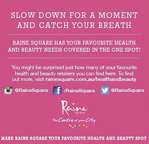 Beauty Treatments At Raine Square, Perth