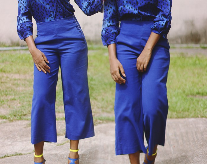 What I wore: Monochromatic Blue