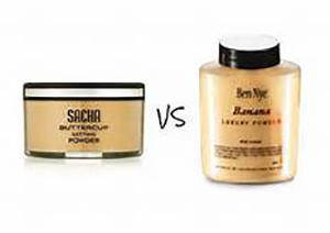 Ben Nye Banana Powder Vs Sacha Cosmetics Buttercup Setting Powder