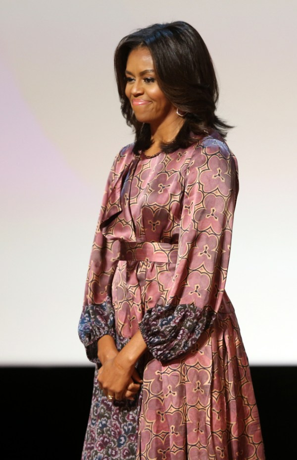 Mideast Qatar Michelle Obama