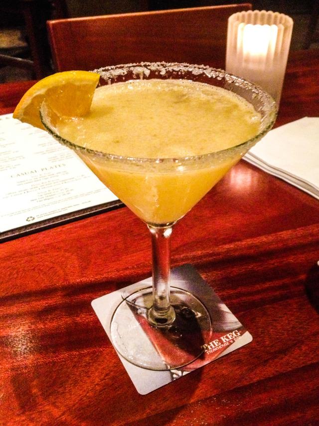 The Keg Las Colinas Happy Hour Orange Slice Martini