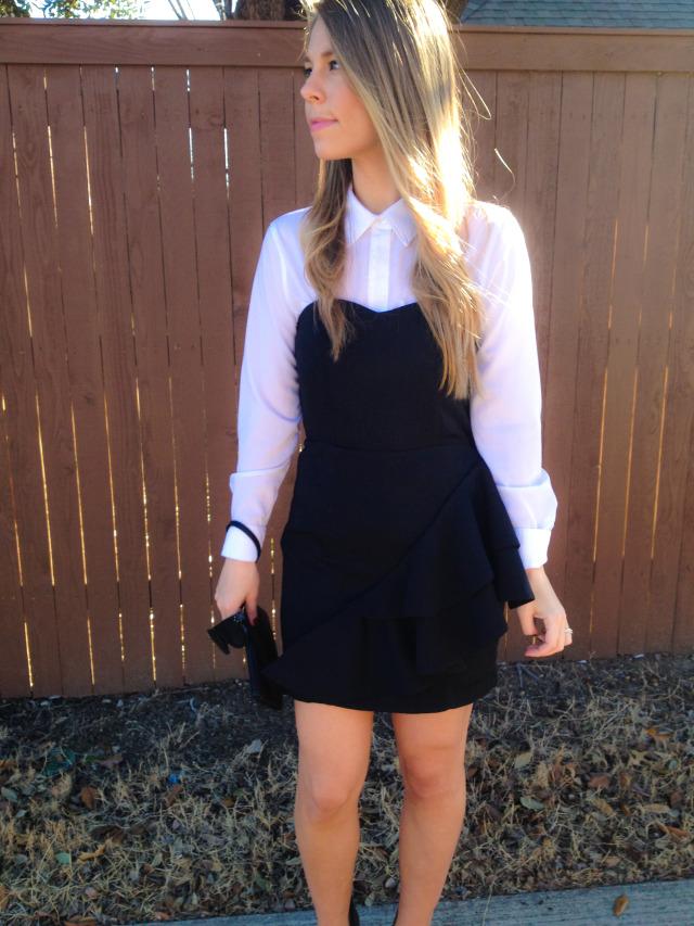 H&M Black Dress White Blouse Burlington Coat Factory