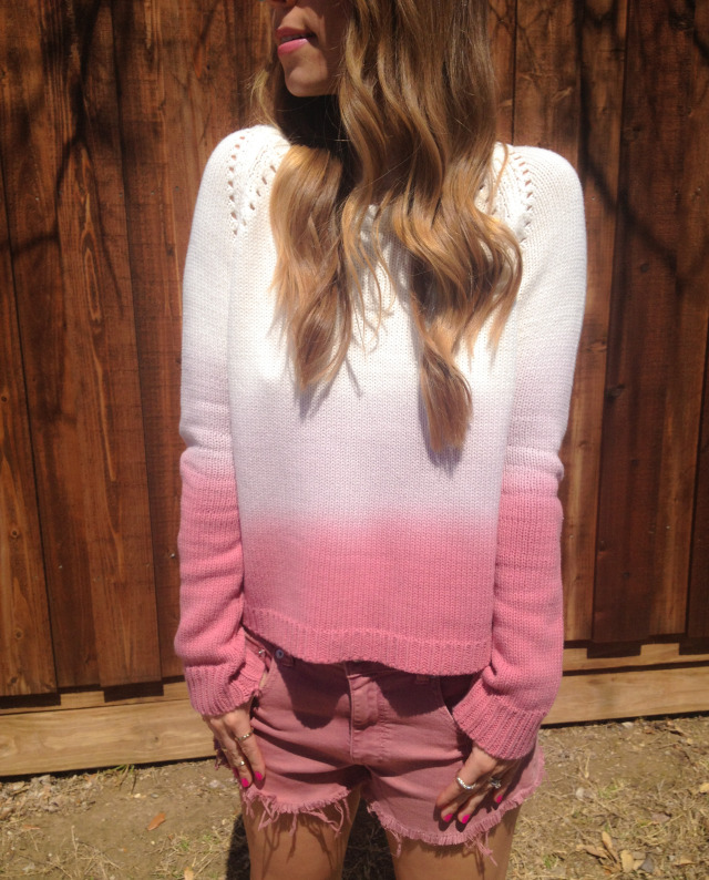BB Dakota Ombre Pink Sweater