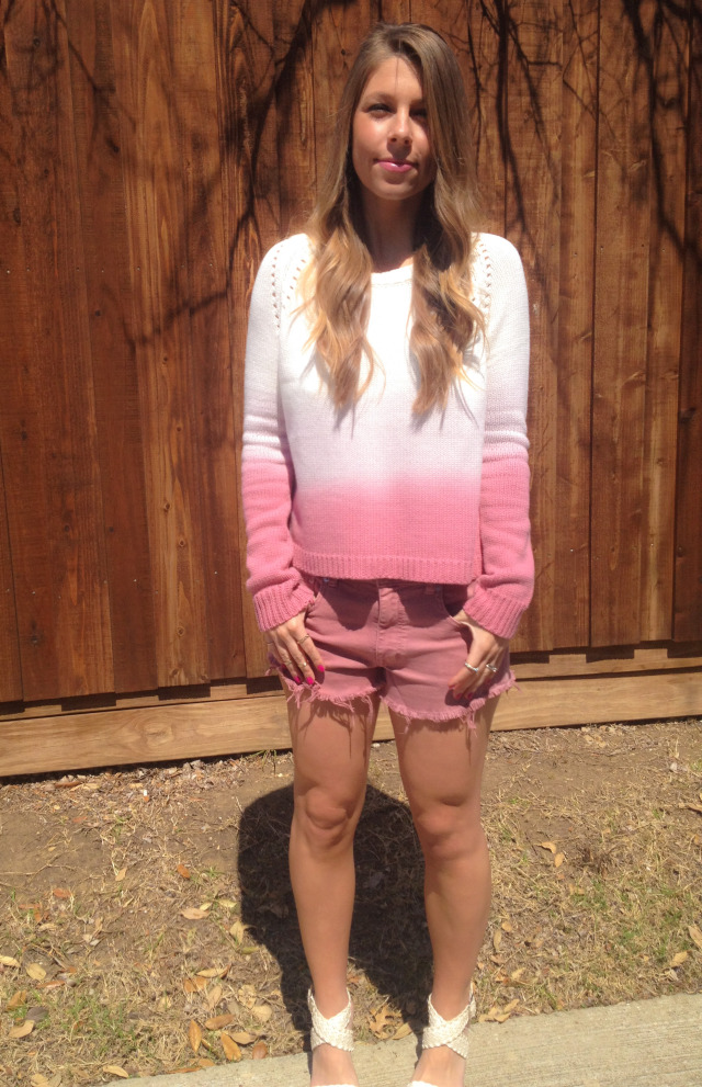 BB Dakota Ombre Sweater TJ Maxx cutoffs BCBGeneration Girl