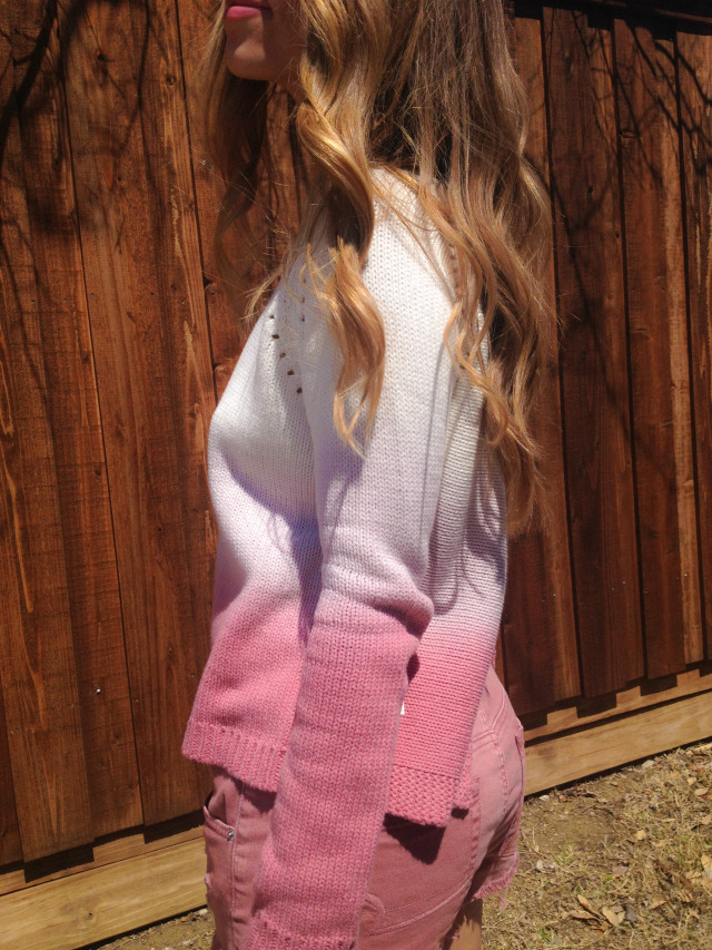 BB Dakota Pink Ombre Sweater TJ Maxx shorts