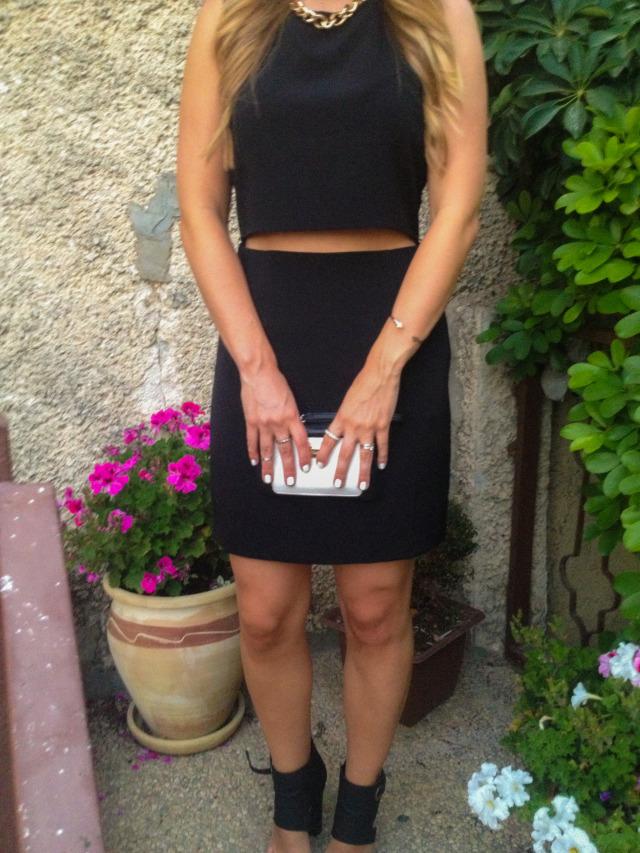 Cropped LBD Dress Forever 21 Fashion Blogger