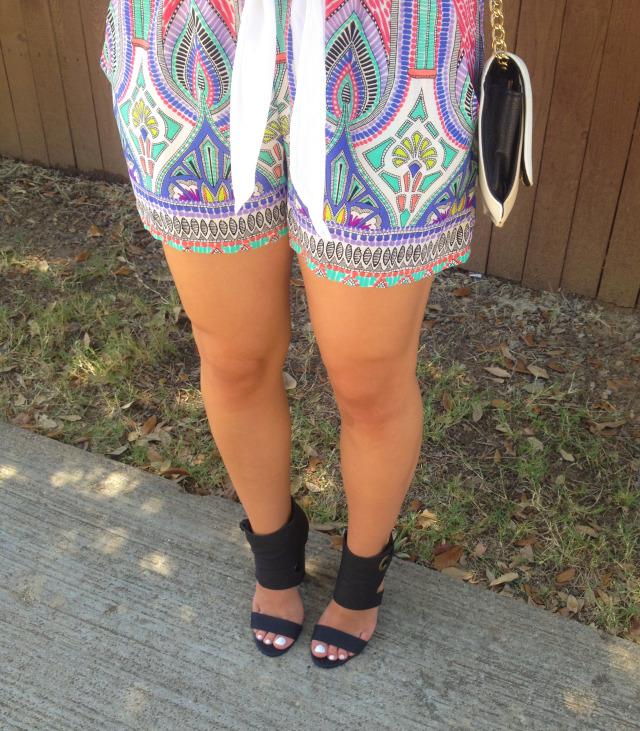 DSW Shoelover Heels Moroccan Print Shorts