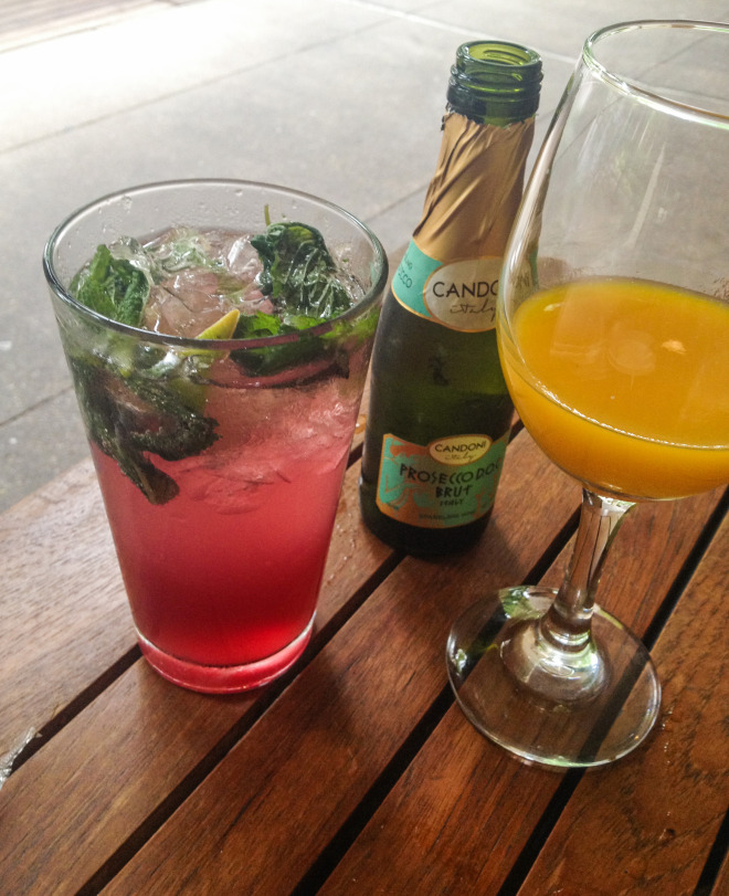 Texas Bluebonnet Mojito and Mango Fizz