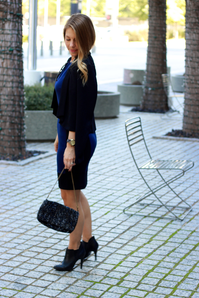 Black and Navy Dress
