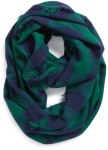 Steve Madden Buffalo Plaid Blue and Green Scarf