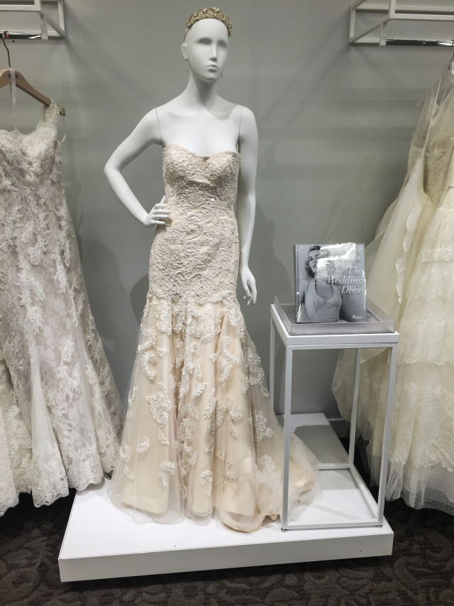 David's Bridal Beaded Gown