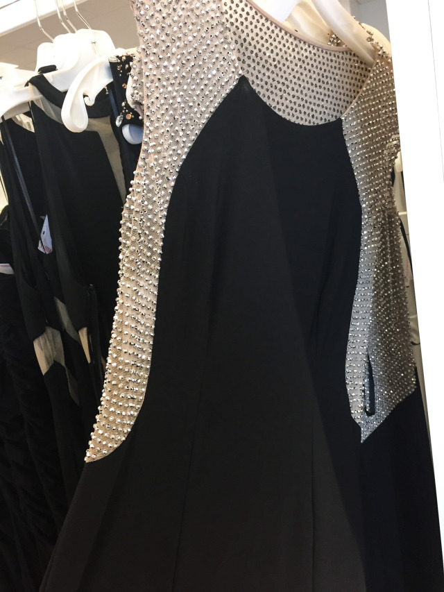 Illusion Beaded Black Gown David's Bridal