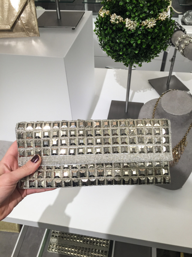 Metallic Studded Clutch