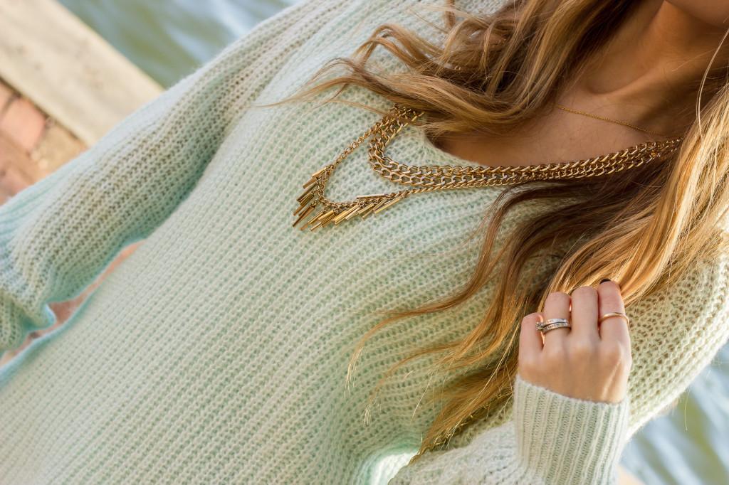 Texas Fashion Blog Gold Necklace