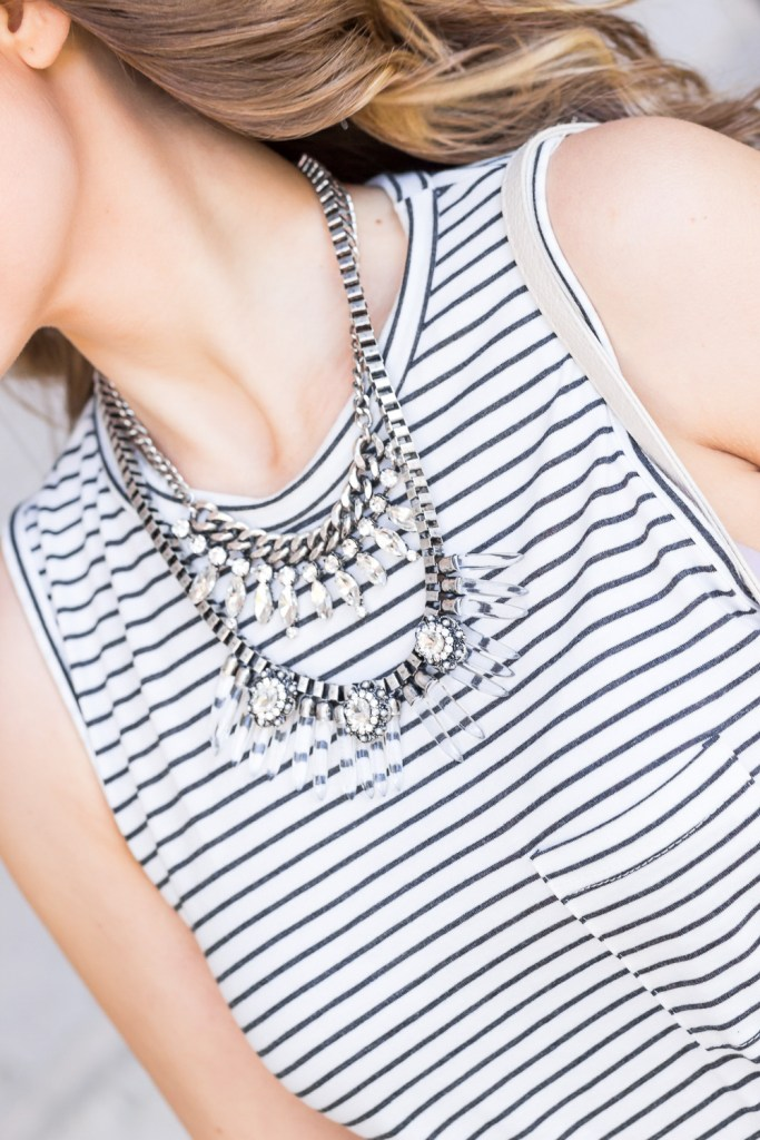 Statement Necklace with tshirt