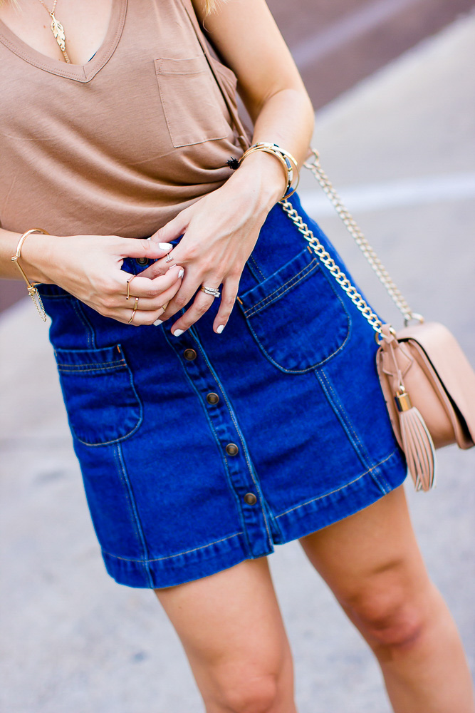 Button-Denim-Skirt