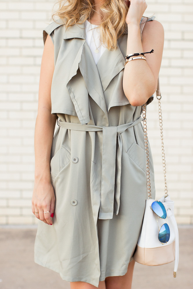 Olive-Sleeveless-Trench