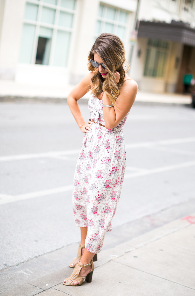Nordstrom Floral Cutout Dress