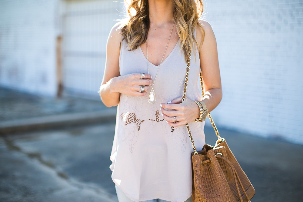 Floral Embroidered Tank