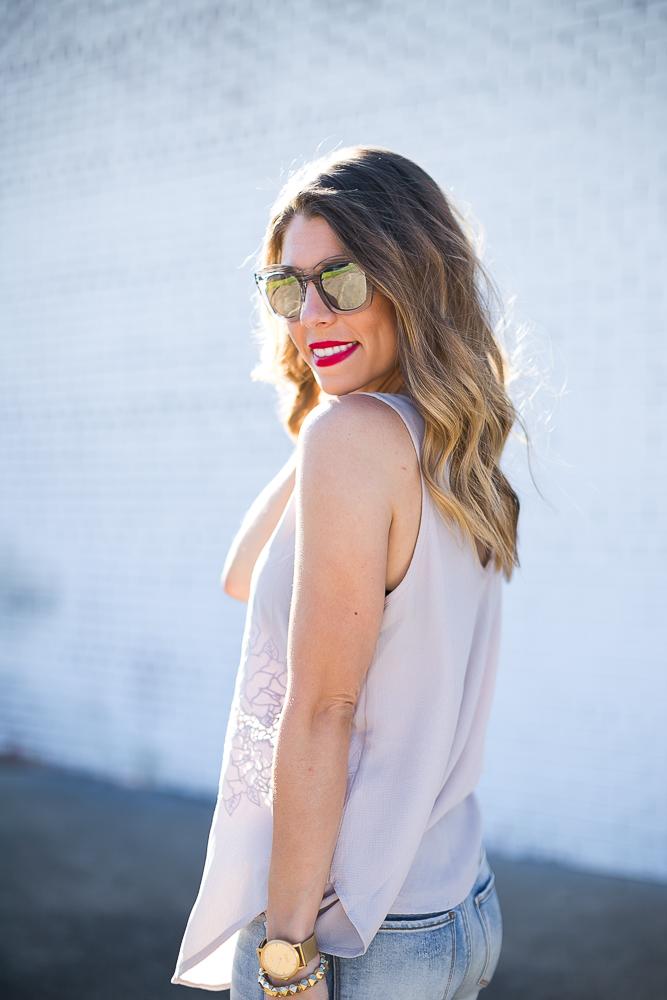 Silver Mirrored Sunglasses
