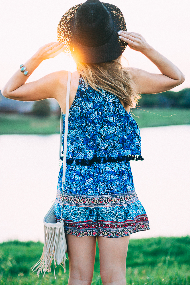 Bohemian Style Romper with Tassels