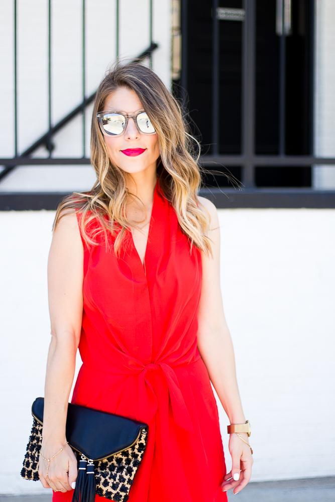 Silk Red Romper